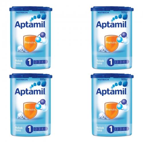 Aptamil Aptamil 1 - 900 Gr Bebek Sütü X 4 Adet (SKT'li)