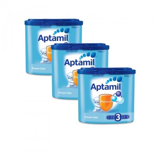 Aptamil Aptamil 3 - 400 gr Devam Sütü X 3 Adet (1200 Gr) (SKT'li)
