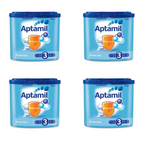 Aptamil Aptamil 3 - 400 gr Devam Sütü X 4 Adet (SKT'li)