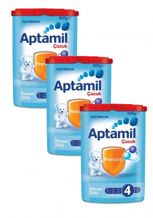Aptamil Aptamil 4 - 900 gr Çocuk sütü x 3 Adet (SKT'li)