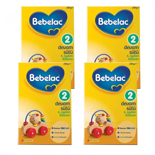 Bebelac Bebelac 2 - 250 Gr Devam Sütü X 4 Adet (1000 Gr) (SKT'li)