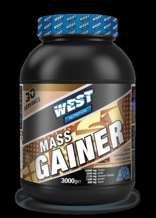 West West Mass Gainer 3000 Gr Karbonhidrat Tozu 30 Servis - Çikolata Aromalı