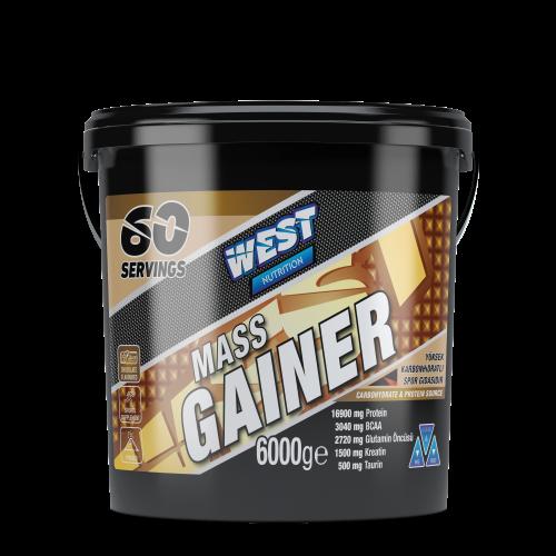 West West Mass Gainer 6000 Gr Karbonhidrat Tozu 60 Servis - Çikolata Aromalı