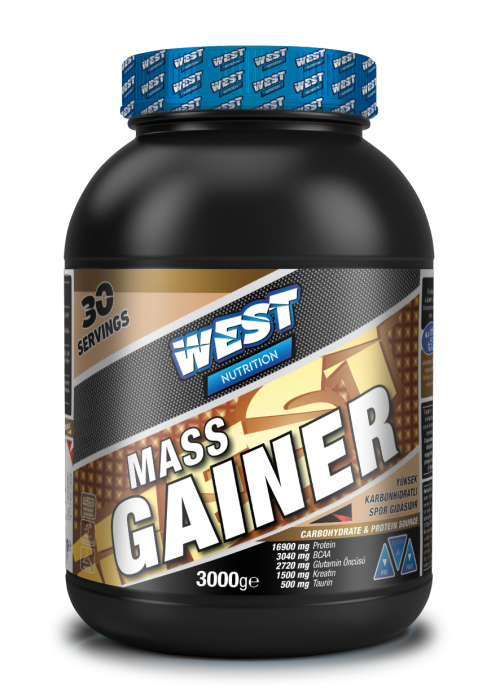 West West Mass Gainer 3000 Gr Karbonhidrat Tozu 30 Servis - Çilek Aromalı